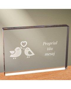 Cadou personalizat trofeu plexiglas dreptunghiular - Perechea perfecta