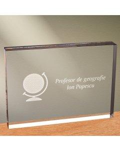 Cadou personalizat trofeu plexiglas dreptunghiular - Judecator