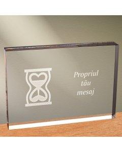 Cadou personalizat trofeu plexiglas dreptunghiular - Timp pentru iubire