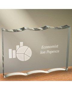 Cadou personalizat trofeu plexiglas ondulat - Economist | Ghizbi.ro