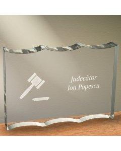 Cadou personalizat trofeu plexiglas ondulat - Judecator | Ghizbi.ro