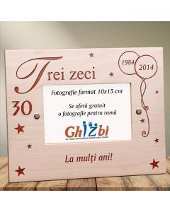 Cadou personalizat rama din lemn - Ziua de nastere | Ghizbi.ro
