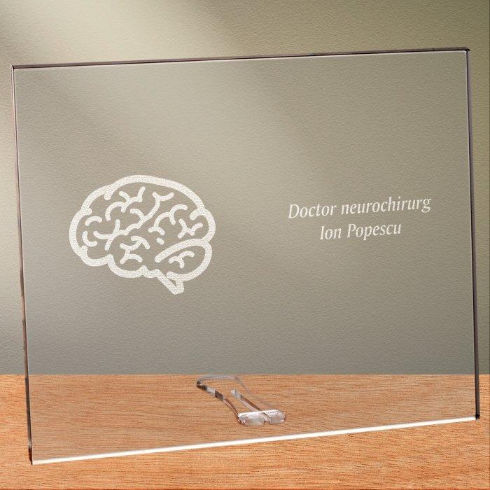 Cadou personalizat placheta din plexiglas - Doctor neurochirurg
