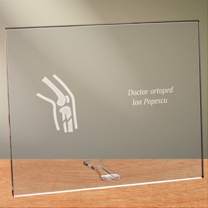 Cadou personalizat placheta din plexiglas - Doctor ortoped