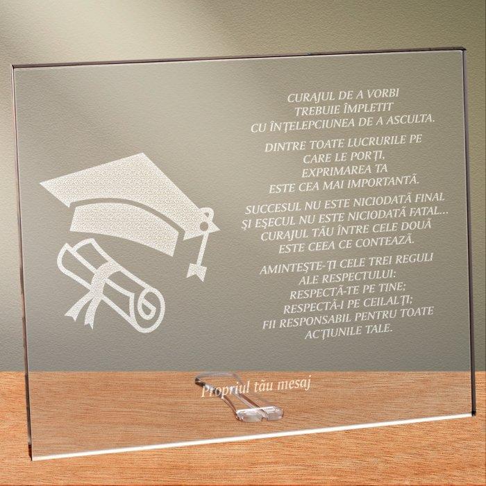 Cadou personalizat placheta din plexiglas - Fericirea depinde de ce gandesti