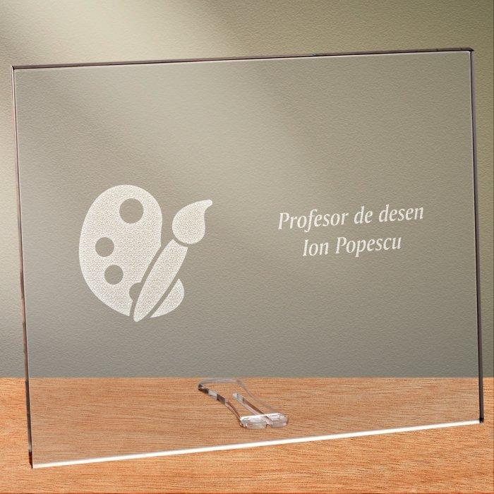 Cadou personalizat placheta din plexiglas - Profesor de desen