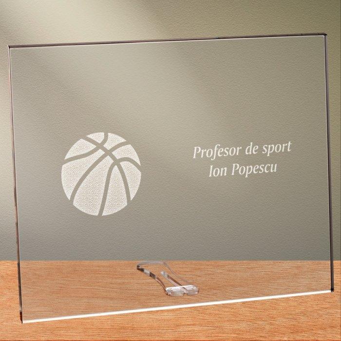Cadou personalizat placheta din plexiglas - Profesor de sport