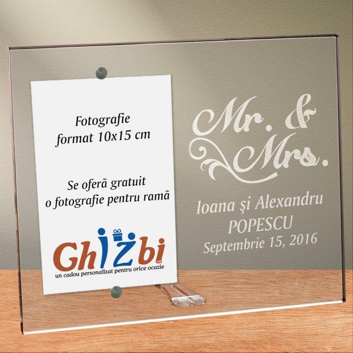 Cadou personalizat rama plexiglas - Cuplu fericit
