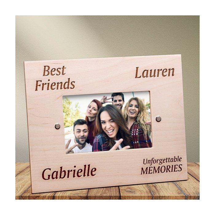 Cadou personalizat rama din lemn - Cei mai buni prieteni