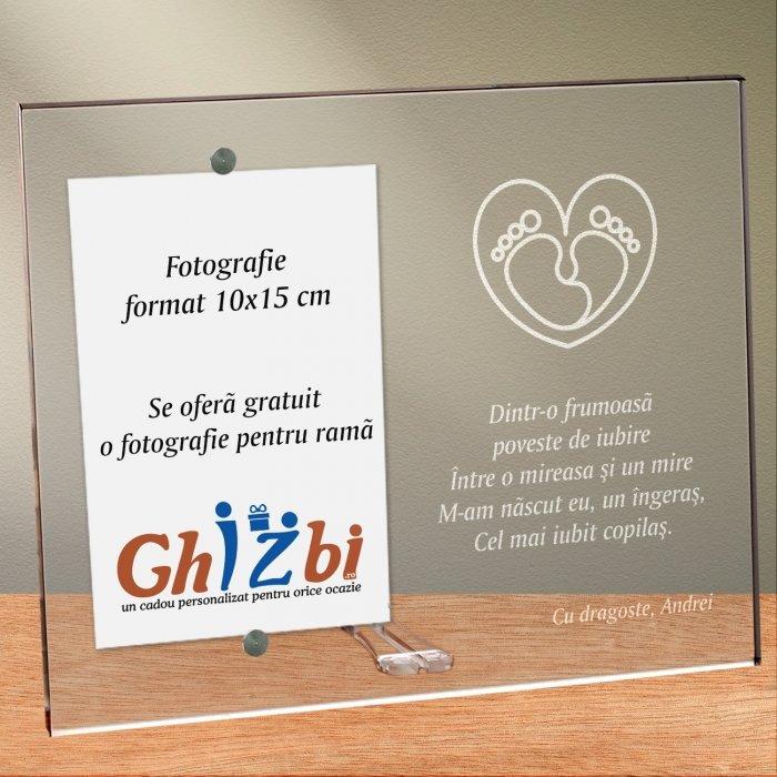 Cadou personalizat rama plexiglas - Cel mai iubit copilas