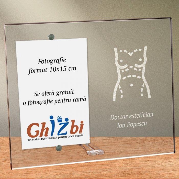 Cadou personalizat rama plexiglas -  Doctor estetician