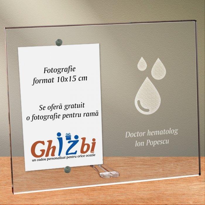 Cadou personalizat rama plexiglas -  Doctor hematolog