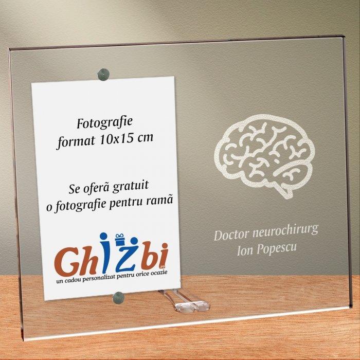 Cadou personalizat rama plexiglas -  Doctor neurochirurg