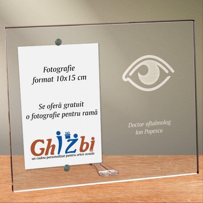 Cadou personalizat rama plexiglas -  Doctor oftalmolog