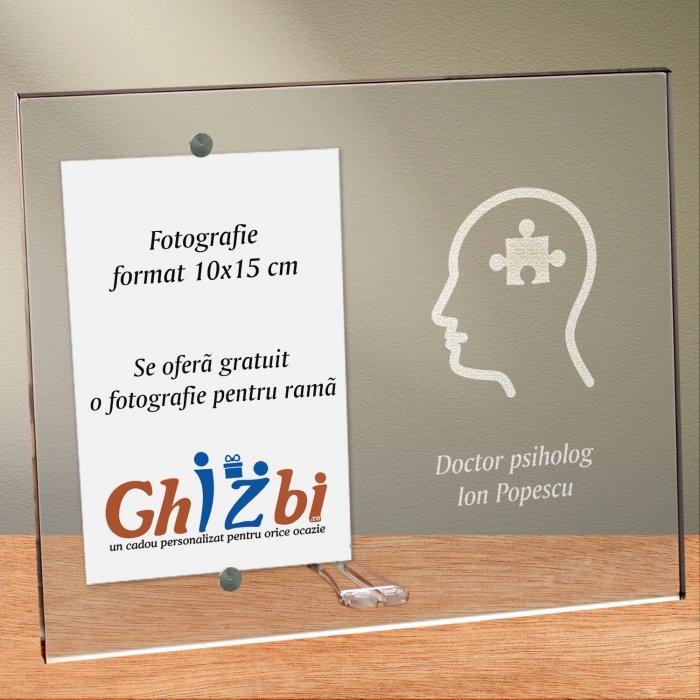 Cadou personalizat rama plexiglas -  Doctor psiholog
