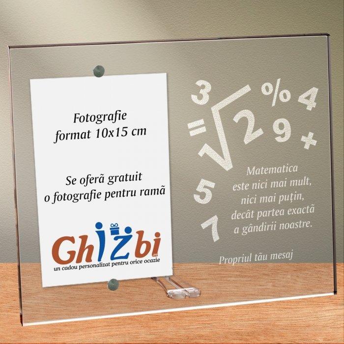 Cadou personalizat rama plexiglas - Matematica este partea exacta a gandirii
