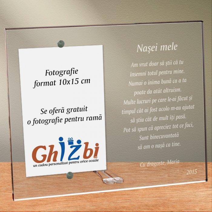 Cadou personalizat rama plexiglas - Pentru nasa mea
