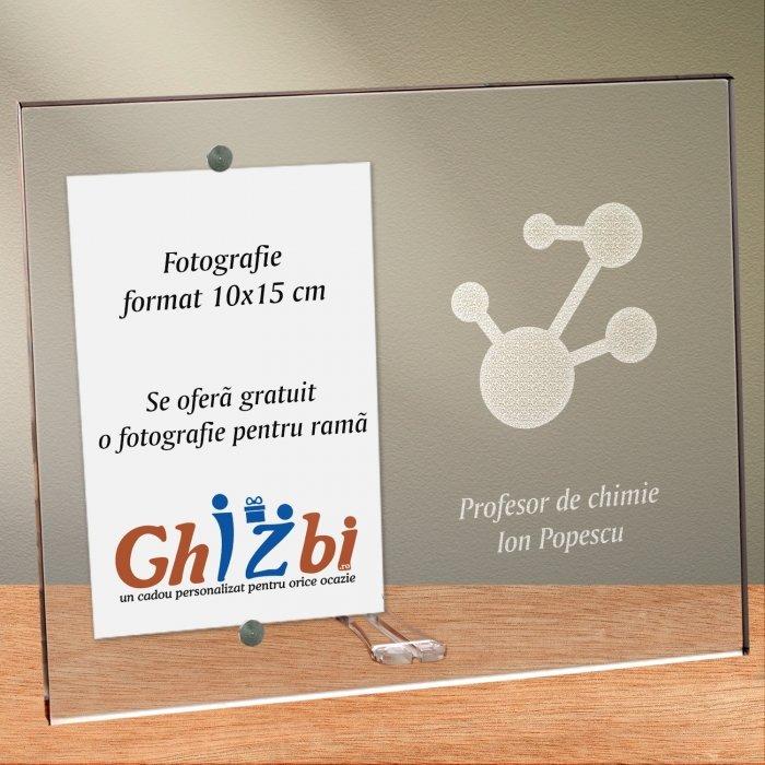 Cadou personalizat rama plexiglas - Profesor de chimie