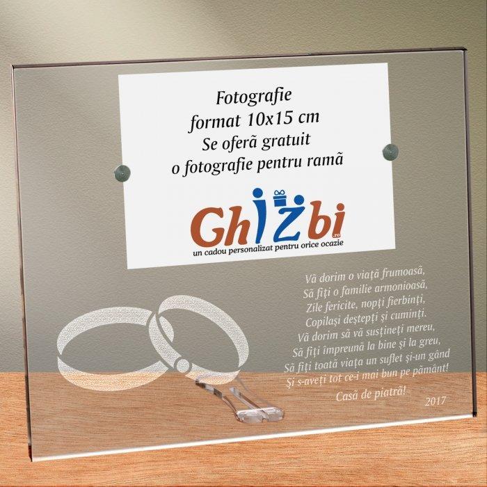 Cadou personalizat rama plexiglas - Va dorim o viata frumoasa