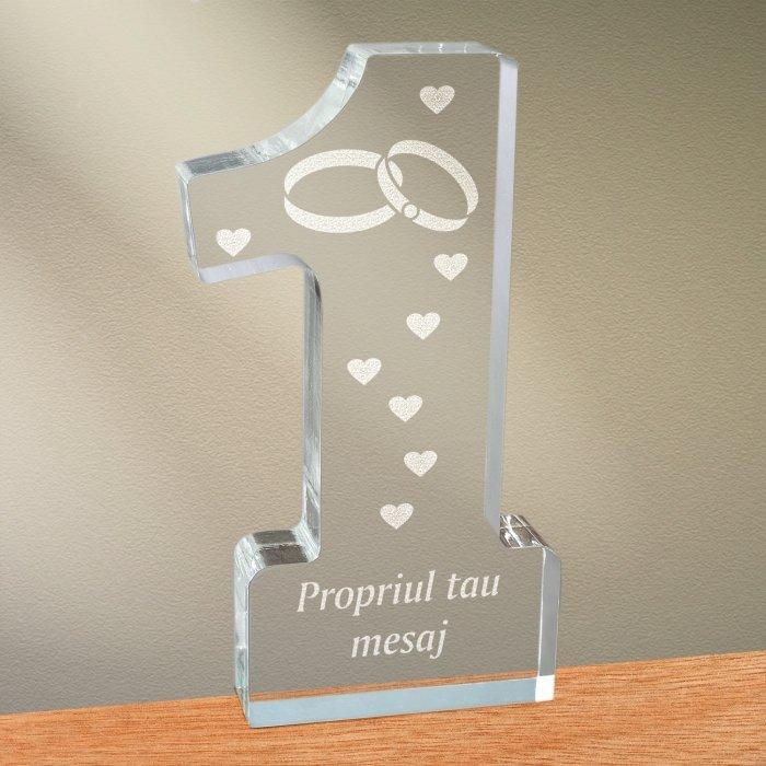 Cadou personalizat trofeu plexiglas cifra - Simbolul iubirii infinite