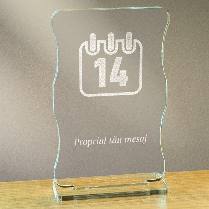 Cadou personalizat trofeu plexiglas cu suport - 14 februarie