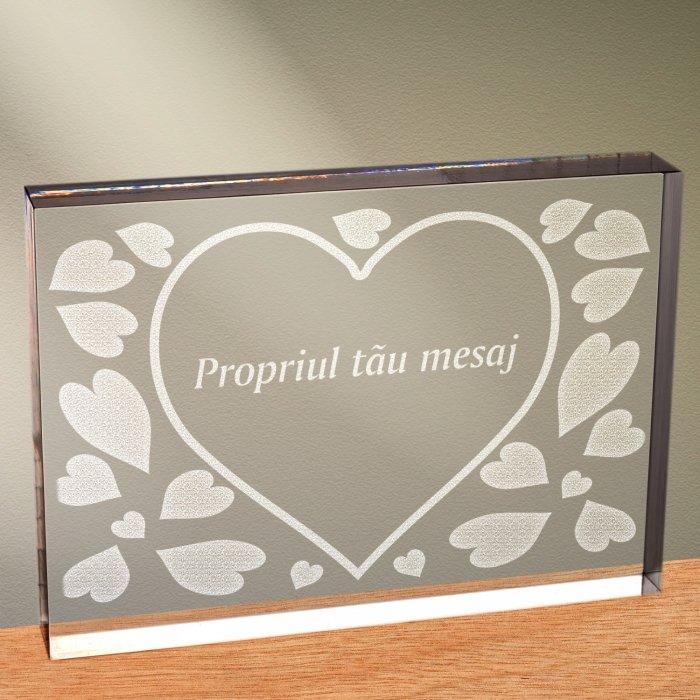 Cadou personalizat trofeu plexiglas dreptunghiular - Esti totul pentru mine
