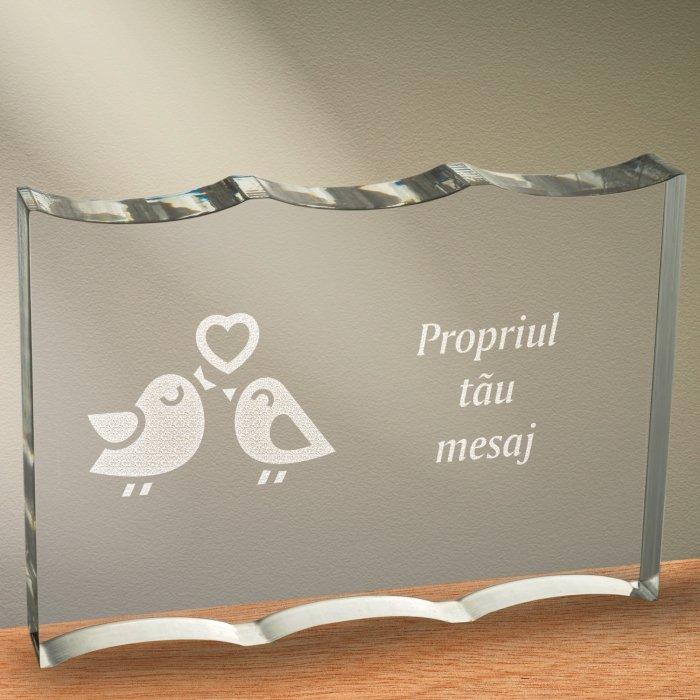 Cadou personalizat trofeu plexiglas ondulat - Perechea perfecta