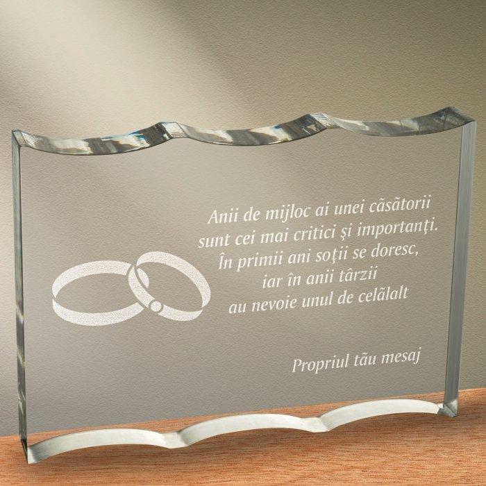 Cadou personalizat trofeu plexiglas ondulat - Anii de mijloc