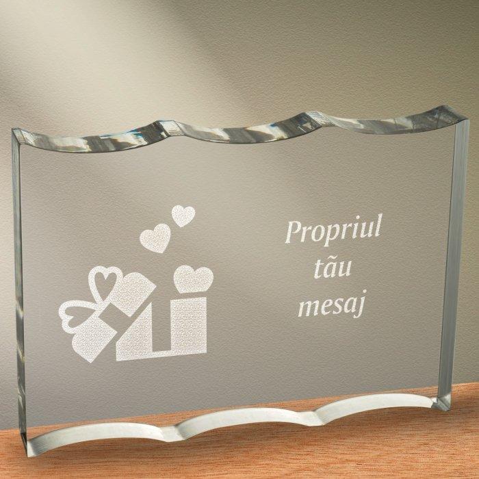 Cadou personalizat trofeu plexiglas ondulat - Cadou din dragoste
