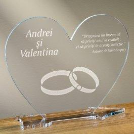 Cadou personalizat placheta plexiglas inima - Simbolul iubirii infinite