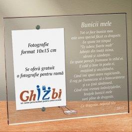 Cadou personalizat rama plexiglas - Poem pentru bunica mea