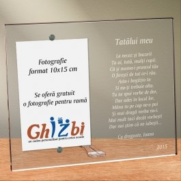 Cadou personalizat rama plexiglas - Poem pentru un tata drag