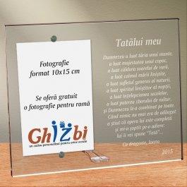 Cadou personalizat rama plexiglas - Poezie pentru un tata drag
